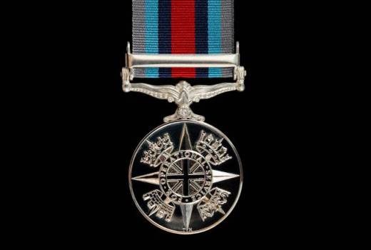 HM Armed Forces Operation SHADER Medal for operational service in Iraq and Syria against Islamic State, by PO(Phot) Owen Cooban (Crown Copyright, 2018)