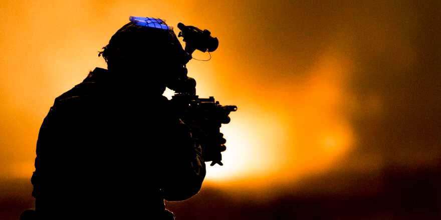 British Army Parachute Regiment 3rd Battalion (3 PARA) C Company on Exercise Yellow Assault STANTA (Crown Copyright, 2019, News licence)