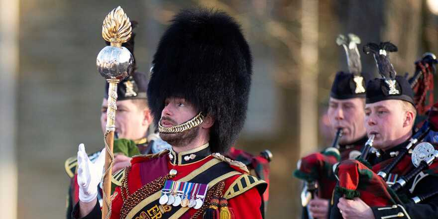 British Army Royal Regiment of Scotland 2nd Battalion 2SCOTS Royal Highland Fusiliers awarded Operation SHADER medals (Crown Copyright, 2019)