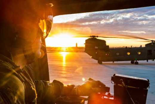 RAF 27 Squadron CH-47 Chinook RAF Odiham (Crown Copyright, 2018) [880]