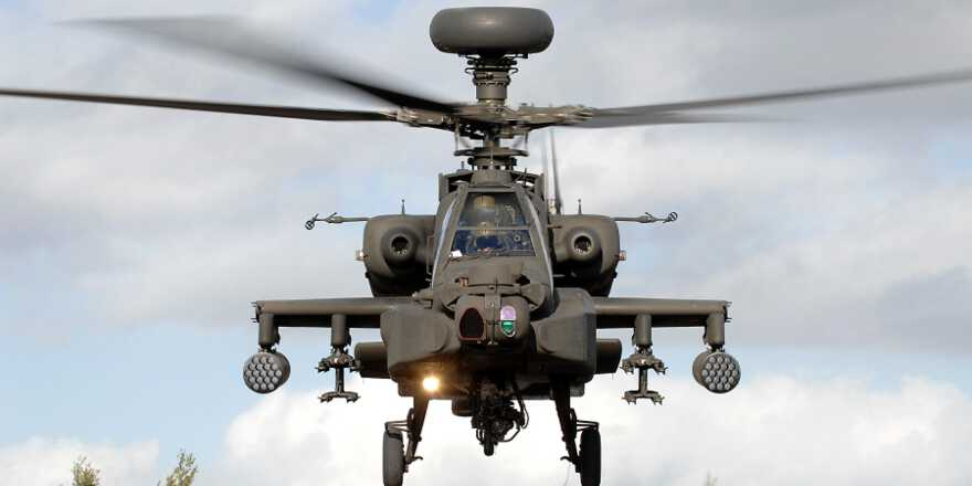 British Army, Army Air Corps Apache helicopter (Crown Copyright, 2012) [880]