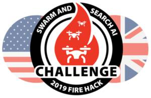 UK MOD, Dstl, US Air Force Research Lab (AFRL) Fire Hack Drone Hackathon (logo edit)