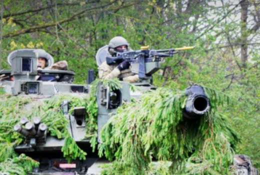 British Army Kings Royal Hussars Op CABRIT Estonia Ex Spring Storm (Crown, 2019) [880][news]