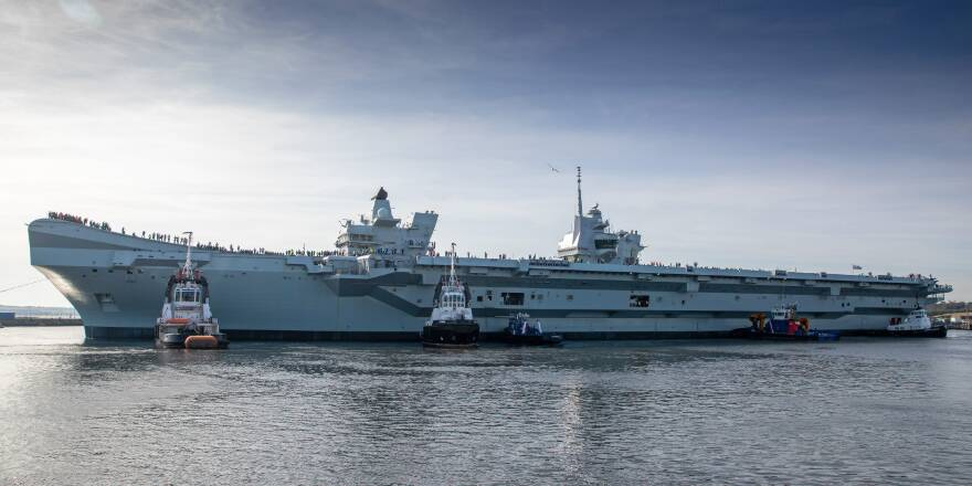 HMS Prince of Wales First Sailing, Sea Trails (Crown Copyright, 2019)