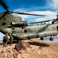Chinook arrival with Royal Air Force remembered