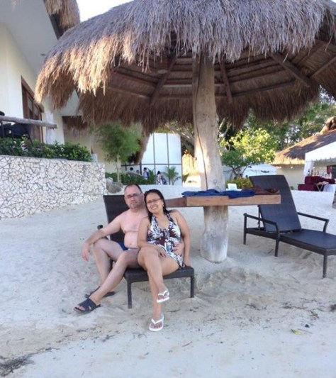 Fons & Chelle at a resort