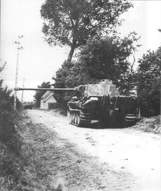 Fontenay-le-Pesnel, 25 juin 1944, Panther '438' du SS-Uscha Gerhard Mahlke
