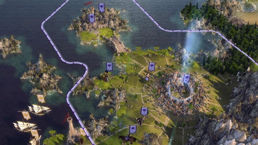 World map - sea