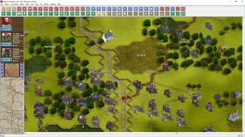 Here is the Confederate defenses around Dunker Church at the beginning of the Antietam battle;