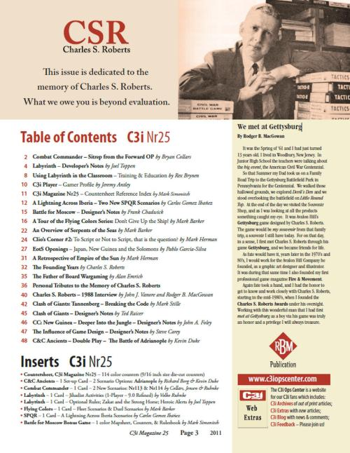 C3i 25 Table of contents