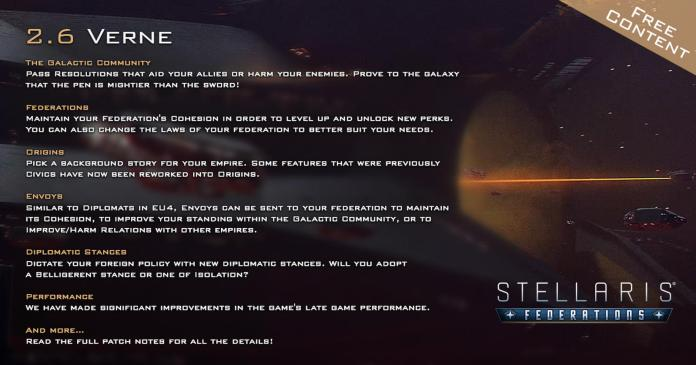 Stellaris patch 2.6.0 verne