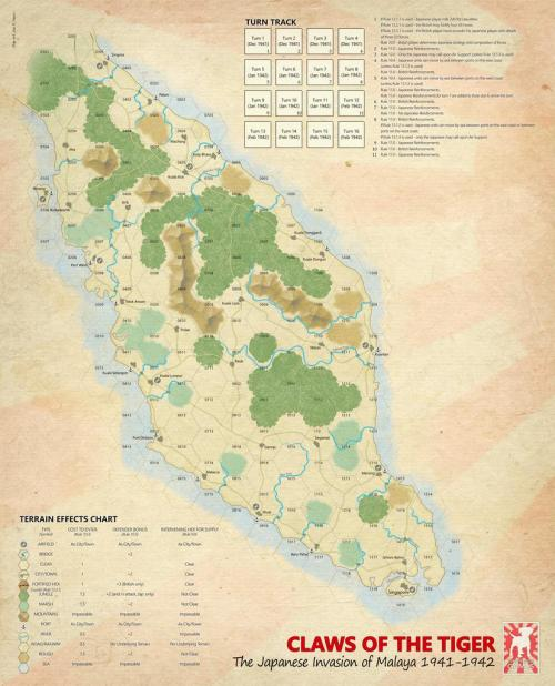 The Claws of the Tiger - map