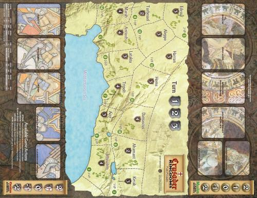 Crusader Kingdoms: The War for the Holy Land - map