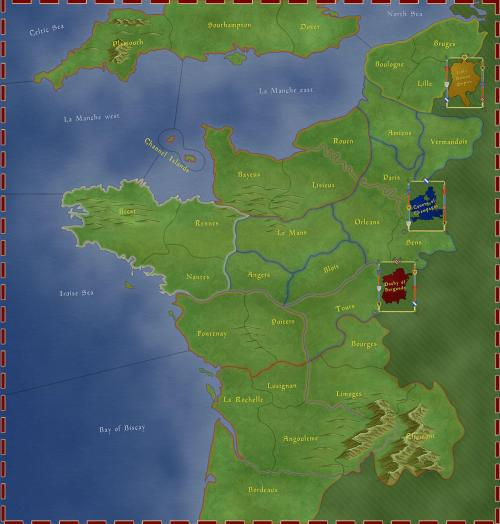 Wars Across the World - Bouveines 1214 - Carte