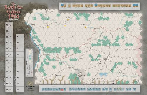 Paper Wars 97 - Galicia 1914 map