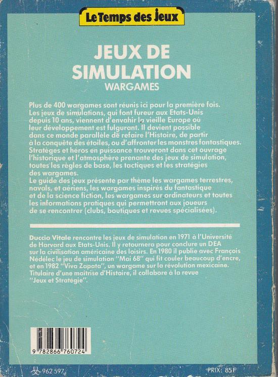 Le temps des jeux - Jeux de simulations - Wargames