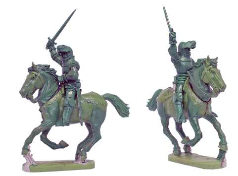 3-up's of Mounted Agincourt Knights 1415-29