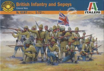 British infantry amd sepoys