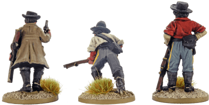28mm Dismounted Confederate Cavalry 1
