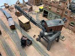 Crane and rail yard