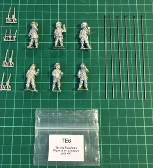 TE6 - Unarmoured pikemen at porte