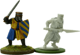 Crusader Miniature (left) Footsore (right)
