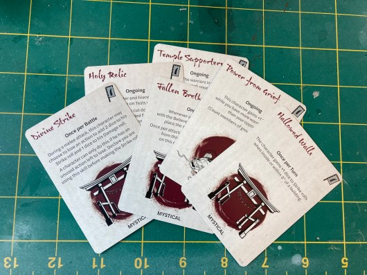 Test of honour cards 0