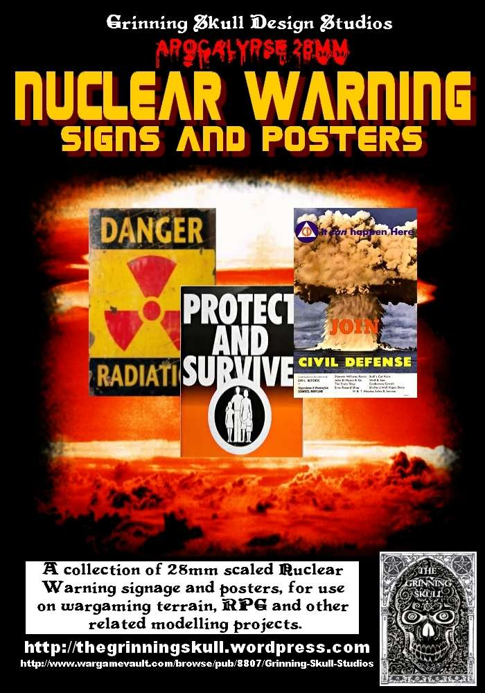 Apocalypse 28mm Nuclear Warning Signs Amp Posters