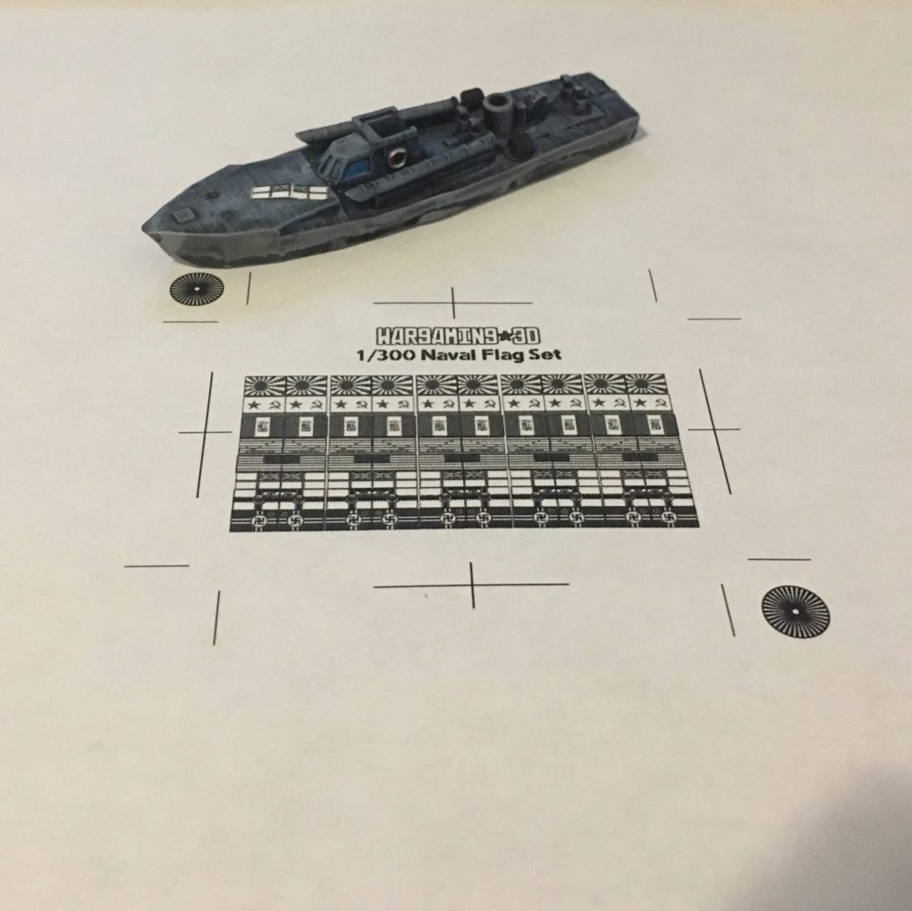 1/300 Naval Ensigns for Wargaming - Wargaming3D