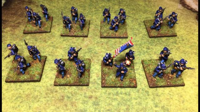 ACW2 Kepi Infantry with Backpack, Advancing & charging