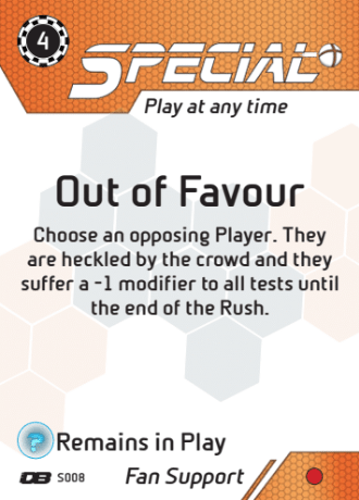 Carta Dreadball Out of Favour