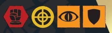 Hellboy: The board Game Carta de Agente Íconos de Nivel de Habilidad