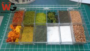Materiales para ambientar una miniatura - Plantas, piedras y hojas sueltas para dar textura y detalles a nuestras ambientaciones