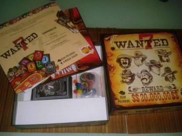 Juego de mesa Wanted 7 de GDM games caja y contenido
