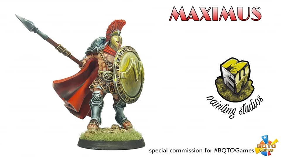 Maximus Thermopilae, an alternative Sculpt for this character masterfully painted by Miniaturas Estadio Wargames