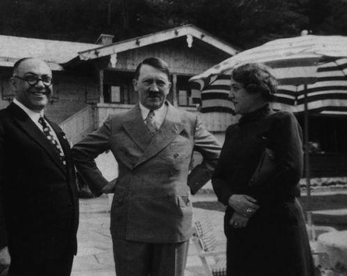 Dr. Morell, Hitler, and Mrs. Morell.