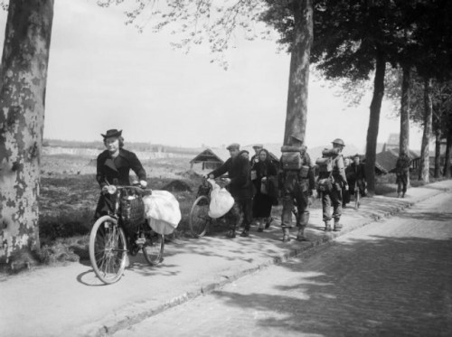 Western Refugees Fleeing the advancing Germans via commons.wikimedia.org