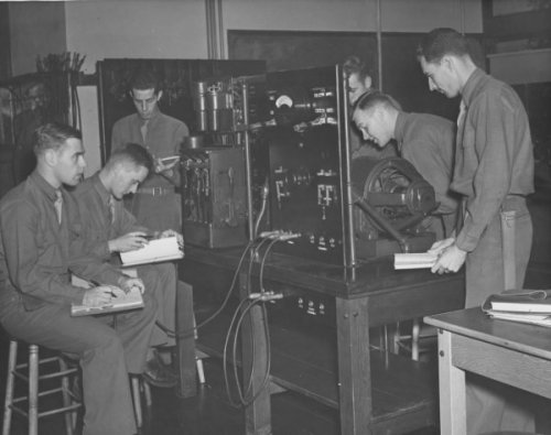 Students of the Army Specialized Training Program Studying Electrical Engineering via http://scarc.library.oregonstate.edu/coll/rg059/imagecredits.html