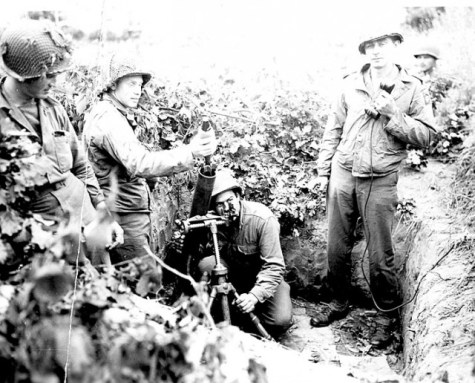 Members of the 504th manning a mortar position in Italy via commons.wikimedia.org
