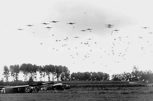 Members of the 82nd descending over Holland via commons.wikimedia.org
