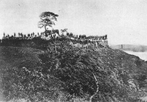 Americans celebrating their victory over a Korean garrison in 1871 via commons.wikimedia.org
