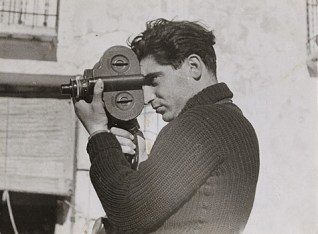 Robert Capa on assignment in May 1937.