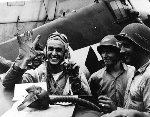Lt. Alexander Vraciu downed six Japanese dive bombers in a single mission, June 19, 1944.