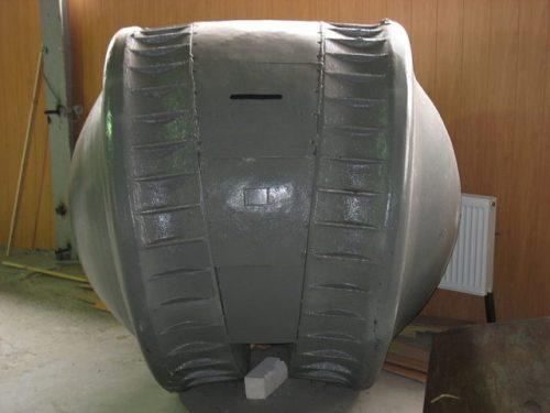 he Kugelpanzer at the Kubinka Tank Museum, 2006. Morpheios Melas / Wikimedia Commons / CC BY-SA 3.0