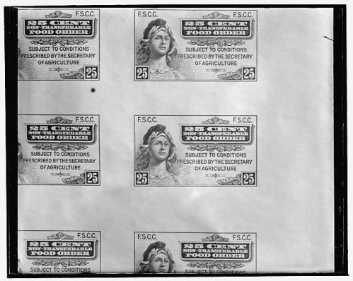 First U.S. food ration stamps. Harris & Ewing Collection/Library of Congress/Wikipedia/Public Domain