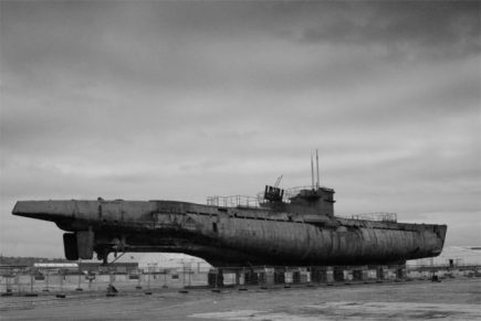 A German U-boat, a present threat to shipping in WW2.