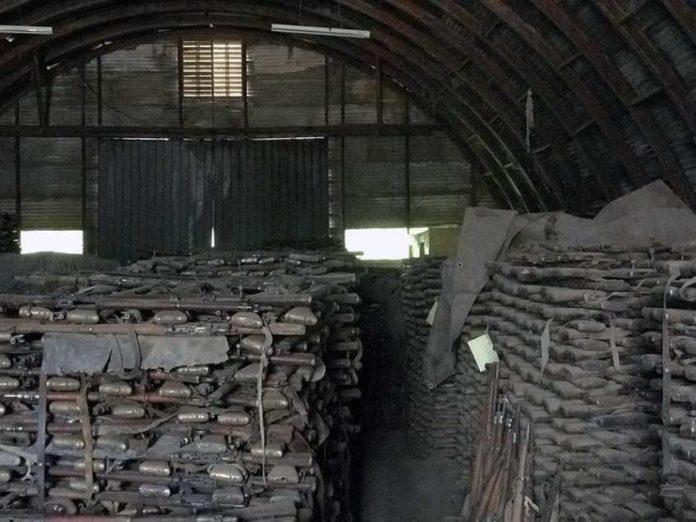 The haul of rifles in Ethiopia.