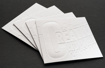 Unprinted Debossed Business Cards