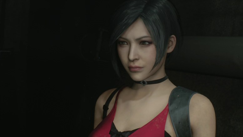 aperçu Resident Evil 2 Remake Ada Wong dans sa robe rouge