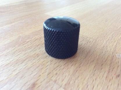 18mm diameter black metal guitar control knob